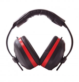 Comfort Ear Protector Ear Muffs - Portwest PW43, Red Front