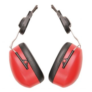 Endurance Clip-on Ear Muffs - Portwest PW47, Red