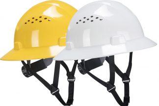 Portwest PS50 Lightweight Vented Adjustable Arrow Work Safety Hard Hat ANSI