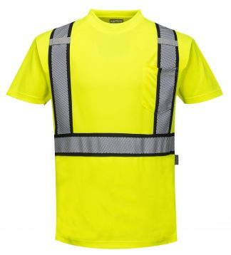 Detroit High Visibility T-shirt - Portwest S395, Front