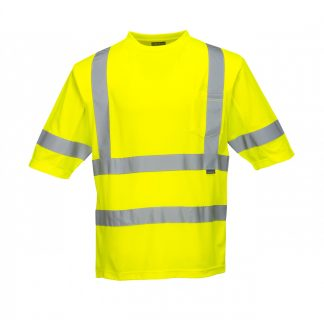 High Visibility Mesh Panel T-shirt - Portwest S397, Front