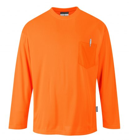 Non-rated High Visibility Long Sleeve T-shirt - Portwest S579, Orange