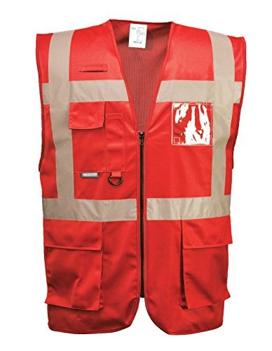 Iona Reflective Executive Safety Vest - Portwest UF476, Red