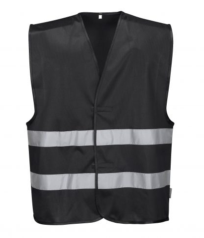 Iona Reflective Safety Vest - Portwest F474, Black
