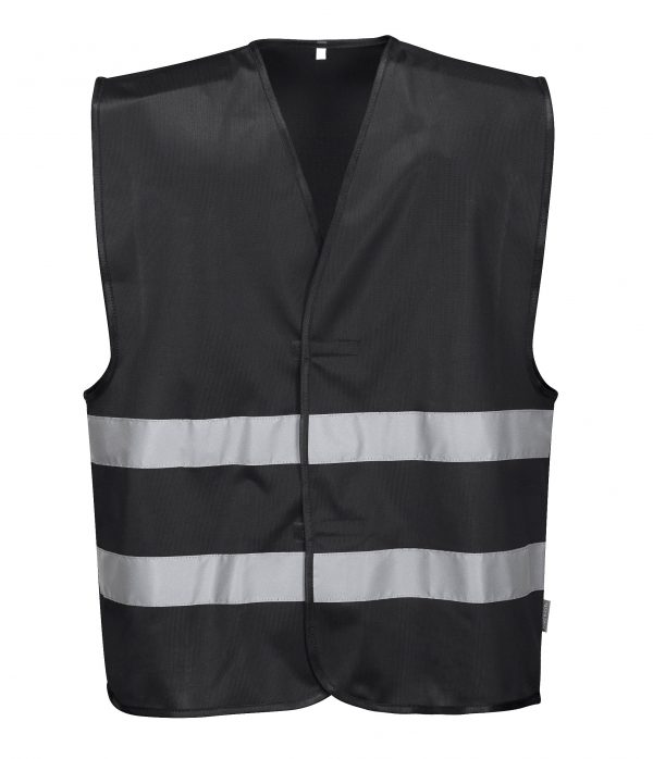 Iona Reflective Safety Vest - Portwest F474, Black