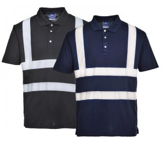 Iona Reflective Polycotton Polo - Portwest F477, Both
