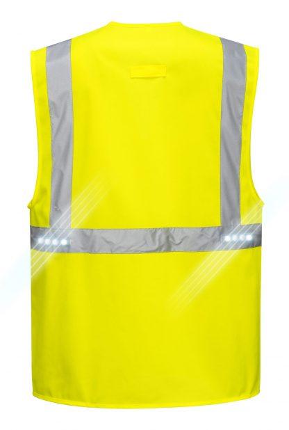 Executive LED High Visibility Safety Vest - Portwest L476, Back