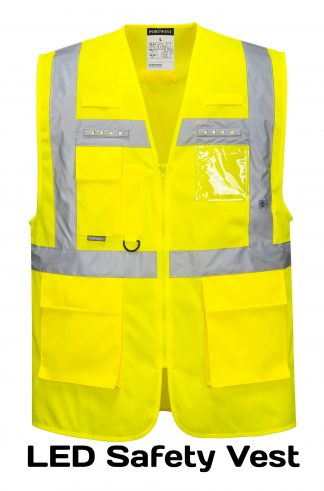 Light-up LED High Visibility Safety Vest - Portwest L476, Front