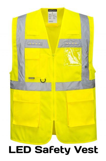 Light-up LED High Visibility Safety Vest - Portwest L476, Front