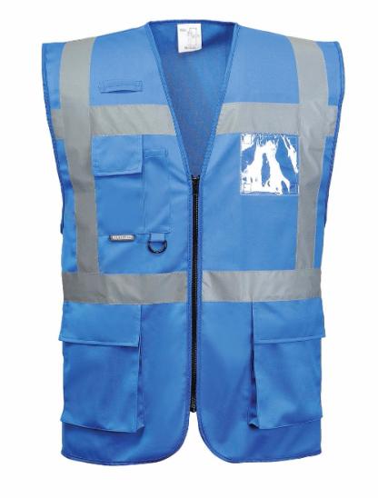 Iona Reflective Executive Safety Vest - Portwest UF476, Blue