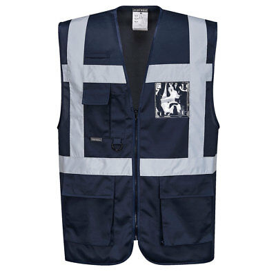 Iona Reflective Executive Safety Vest - Portwest UF476, Navy