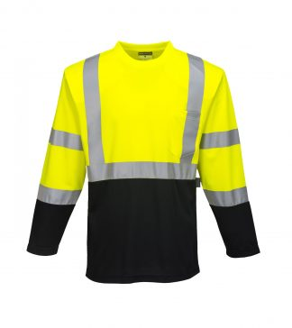 Laguna High Visibility Long Sleeve T-shirt - Portwest S398, Front