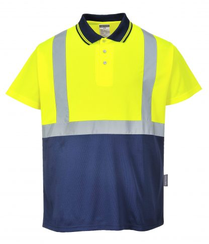 Two-tone High Visibility Polo - Portwest S479, Blue