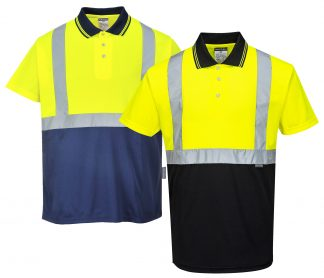 Two-tone High Visibility Polo - Portwest S479, Mix