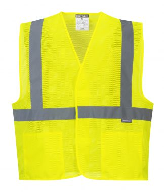 High Visibility Mesh Safety Vest - Portwest UC492, Front