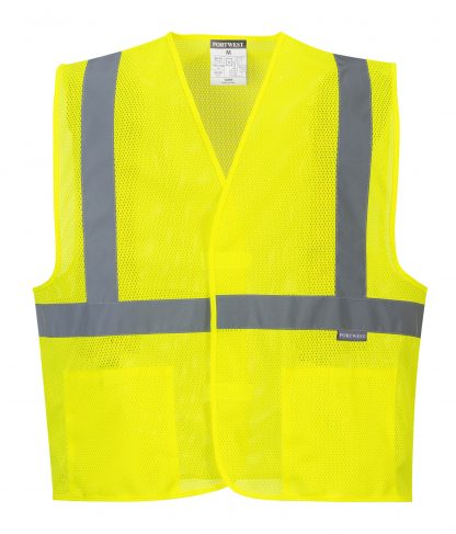 High Visibility Mesh Safety Vest - Portwest UC492, Front