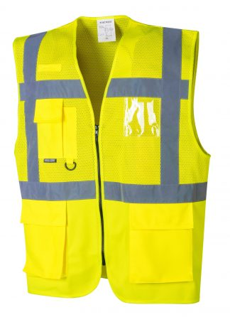 Hi Vis Executive Mesh Safety Vest - Portwest UC496, Front