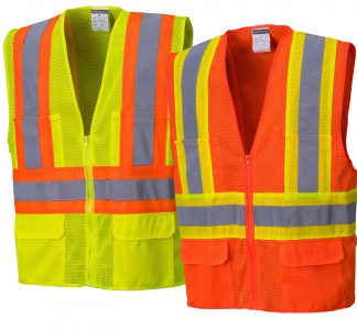 High Visibility Two-tone Safety Vest - Portwest US371, Available in both Yellow and Orange