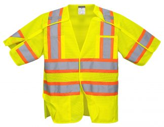 Breakaway High Visibility Safety Vest - Portwest US382, Front
