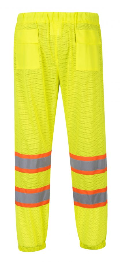 High Visibility Mesh Overpants - Portwest US386, Rear