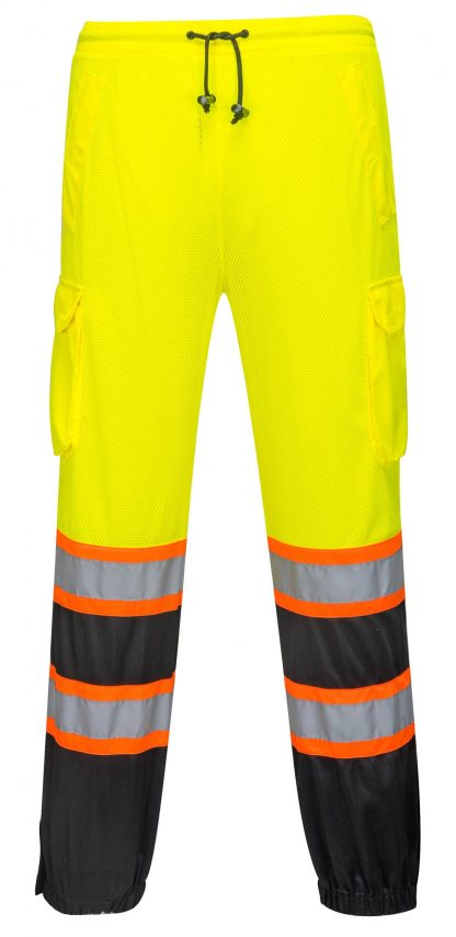 Two Tone High Visibility Mesh Overpants - Portwest US388, Front