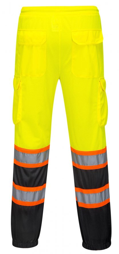 Two Tone High Visibility Mesh Overpants - Portwest US388, Back
