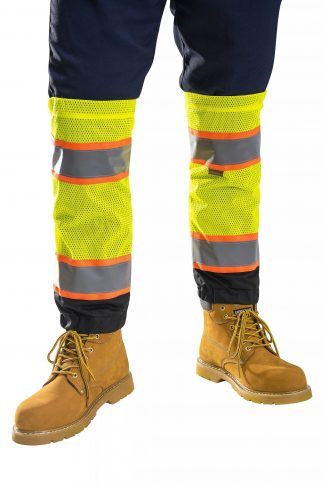 Two-tone High Visibility Leg Gaiters - Portwest US389, Yellow on body