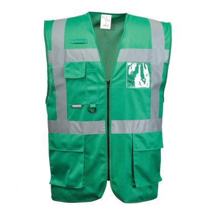 Iona Reflective Executive Safety Vest - Portwest UF476, Bottlegreen