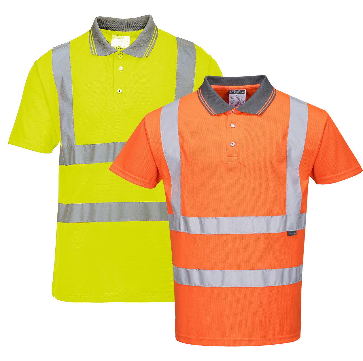714c153de77 High Visibility Short-sleeve Polo - Portwest RT22 — iWantWorkwear