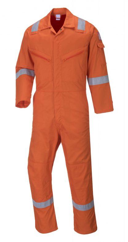 Portwest C814 Unisex Reflective Coveralls, 8 Pockets, orange