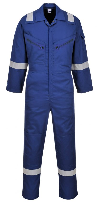 Portwest C814 Unisex Reflective Coveralls, 8 Pockets,, royal blue