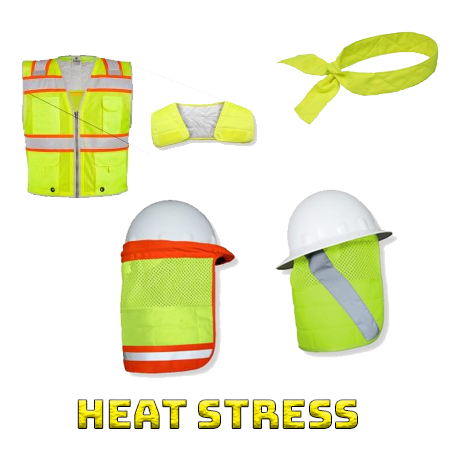 High visibility body cooling heat stress from iwantworkwear workwear store