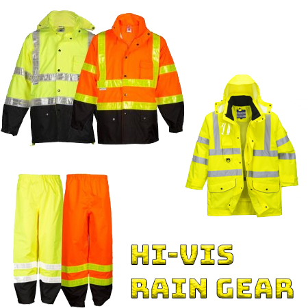 High visibility rain gear from iwantworkwear workwear store