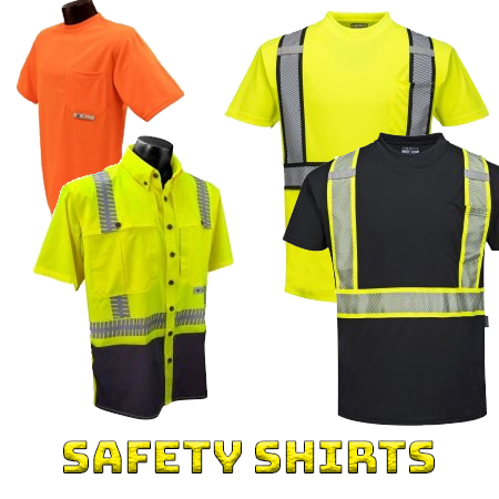 High visibility safety shirts from iwantworkwear workwear store
