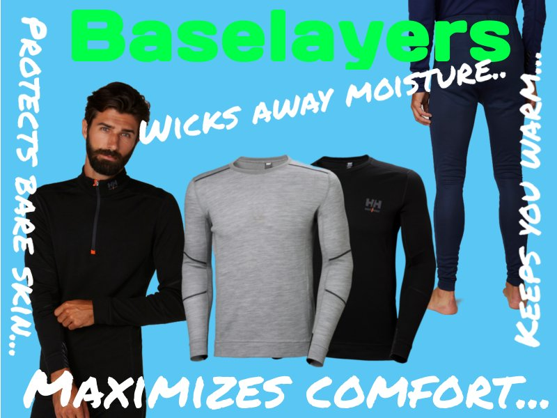 Helly Hansen Workwear Baselayers keep you warm, healthy and on the job for longer. These wintertime baselayers are perfect for keeping you comfortable as you work in the spring, fall or winter. Outdoor workwear helly hansen workwear baselayers