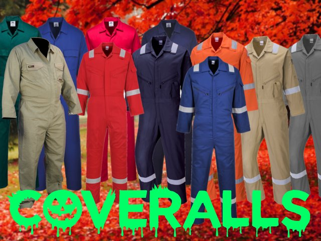 Coveralls, Mechanics coeralls, jumpsuits, fire resistant, high visibility, reflective all body unisex oceralls
