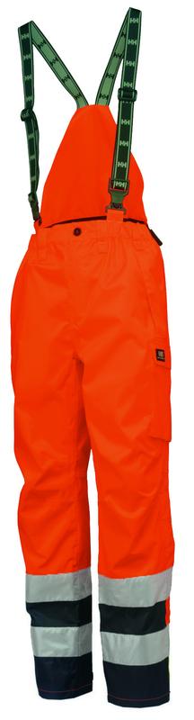 Helly Hansen 71489 POTSDAM ANSI Bib Pants, Orange, Front