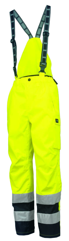Helly Hansen 71489 POTSDAM ANSI Bib Pants, Yellow, Front