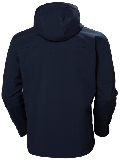Helly Hansen 74230 Navy Softshell Jacket Rear