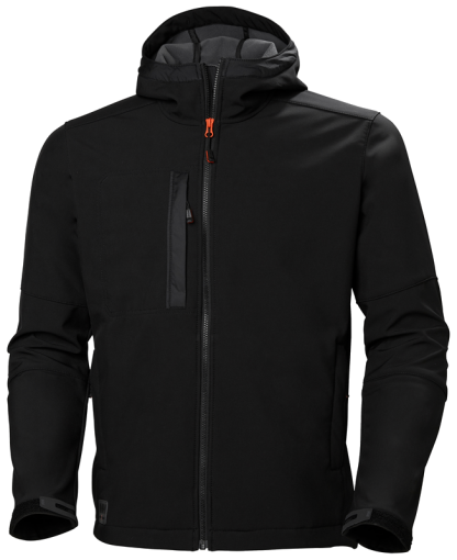 Helly Hansen 74230 Black Softshell Jacket Front