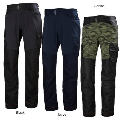 Helly Hansen 77455 Chelsea Evolution Service Work Pants, Black, Navy or Camo