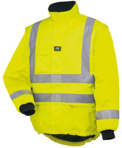Helly Hansen POTSDAM LINER JACKET - Orange and Yellow, Main, iWantworkwear Yellow front