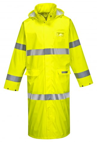 "FR44 - 50"" High Visibility FR Rain Coat - Portwest -"
