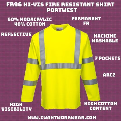 Permanent Fire Resistance 60% Modacrylic / 40% Cotton Soft and breathable Reflective ARC2 ANSI 107 Type R Class 3