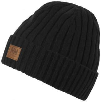KENSINGTON WOOL BEANIE - BLACK